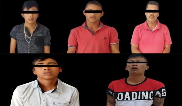 Caen 5 presuntos traficantes de droga en el sur de Veracruz