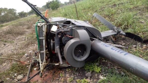 Cae helicóptero en Puente Nacional, Veracruz