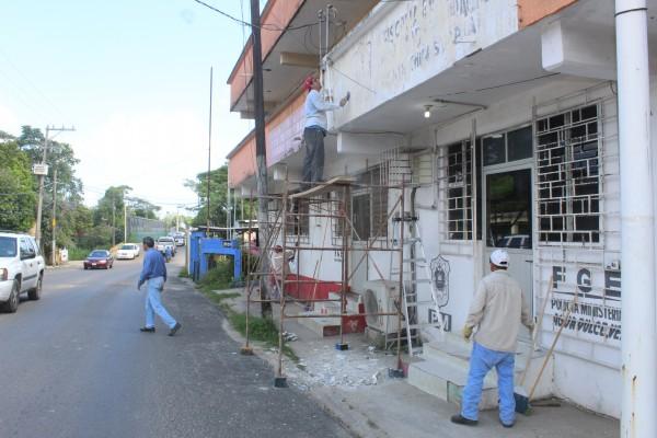 Inician trabajos de rehabilitación de las ex oficinas del Ministerio Público