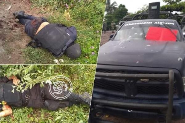 CJNG mata a 14 policías en emboscada en Michoacán