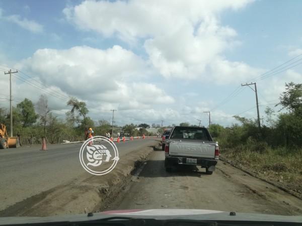 Continúan las molestias por obras en la Poza Rica-Coatzintla