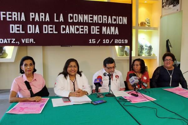 Realizarán en Coatzacoalcos Feria por el Día contra el Cáncer de Mama