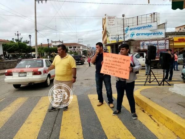 Exigen justicia para reporteros agredidos en Acayucan