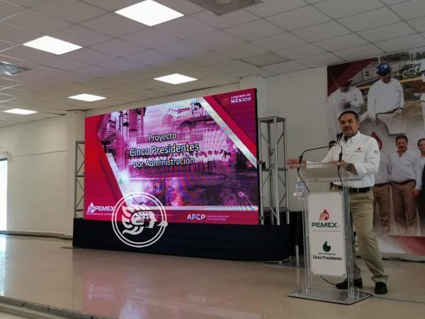 Pemex presenta en Agua Dulce el proyecto Cinco Presidentes