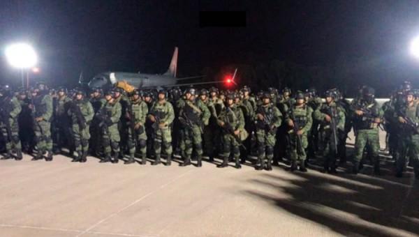 Llegan 230 militares de élite a Culiacán para reforzar seguridad
