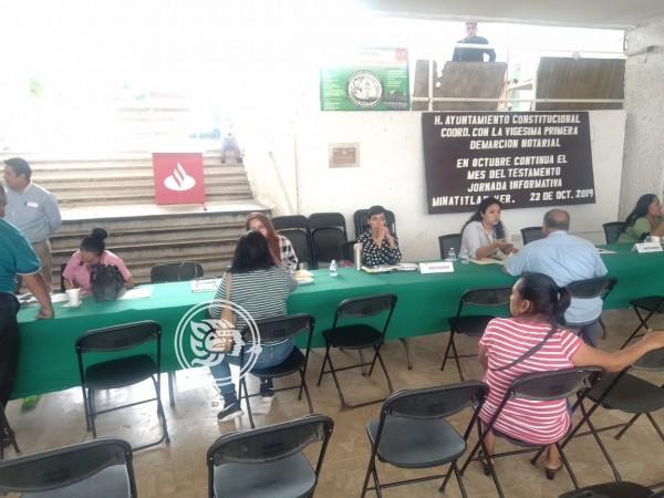 Volvió jornada de información testamental en Minatitlán