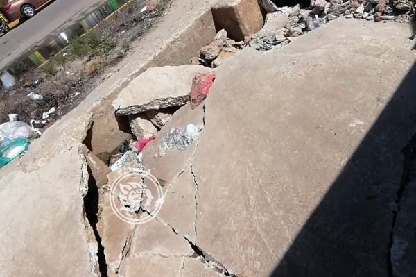 Se quiebra malecón de Minatitlán pese a rehabilitación