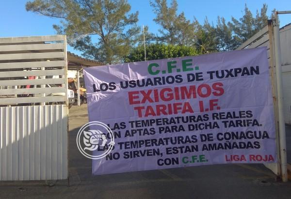 En Tuxpan, siguen buscando reclasificación de tarifas eléctricas