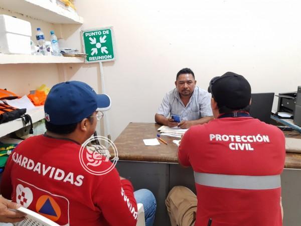 Constante vigilancia de PC por inundaciones en Texistepec