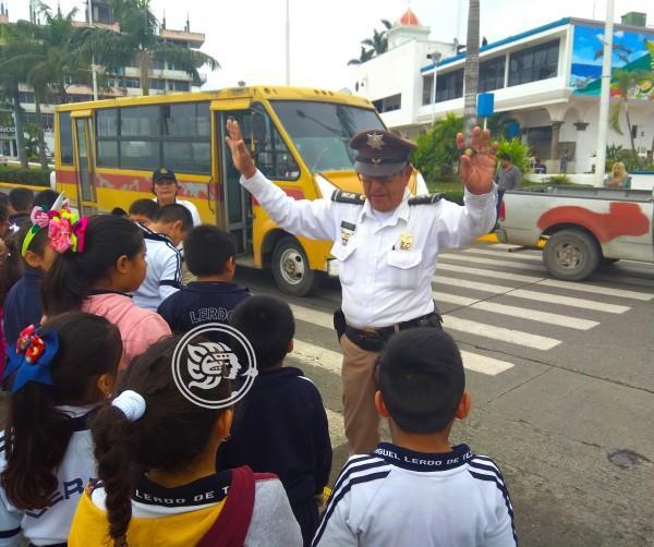En Tuxpan mantienen acciones de educación vial