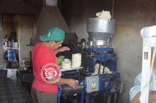 Kilo de tortillas costará 20 pesos en Las Choapas