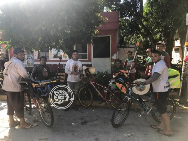 Comienzan peregrinos su travesía por el sur de Veracruz