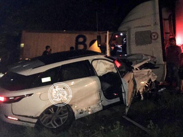 Choque sobre la autopista Cosoleacaque–La Tinaja; un lesionado