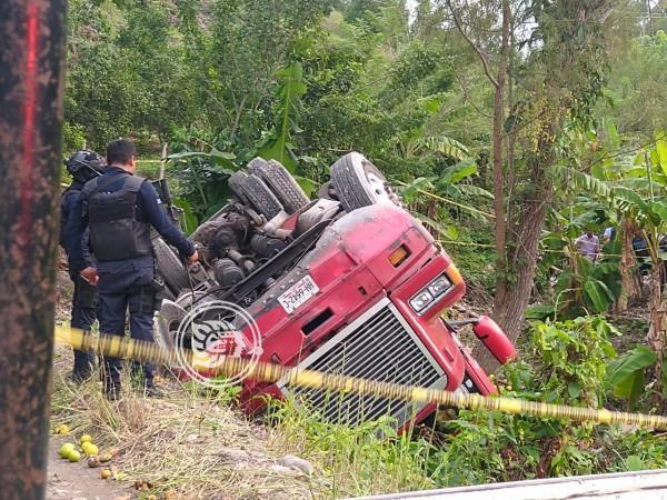 Camión se voltea en carretera; deja 4 muertos y 7 heridos