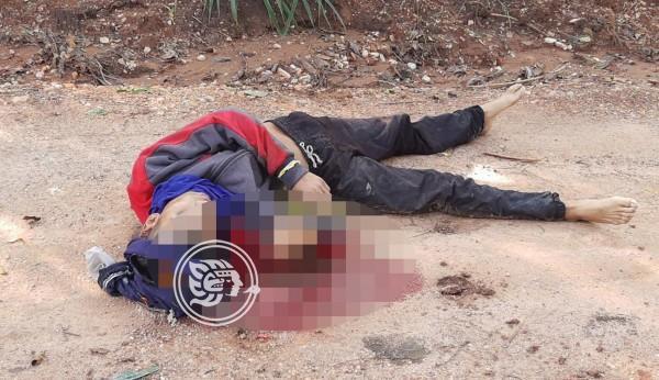 Sin identificar, joven asesinado en terracería de Acayucan