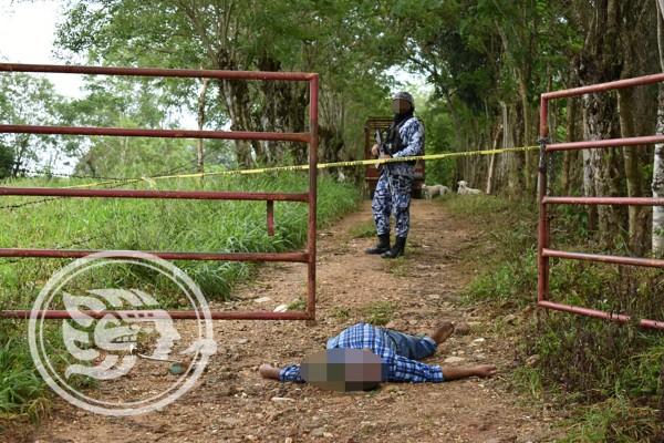 Asesinan a mayoral al llegar a rancho en Acayucan